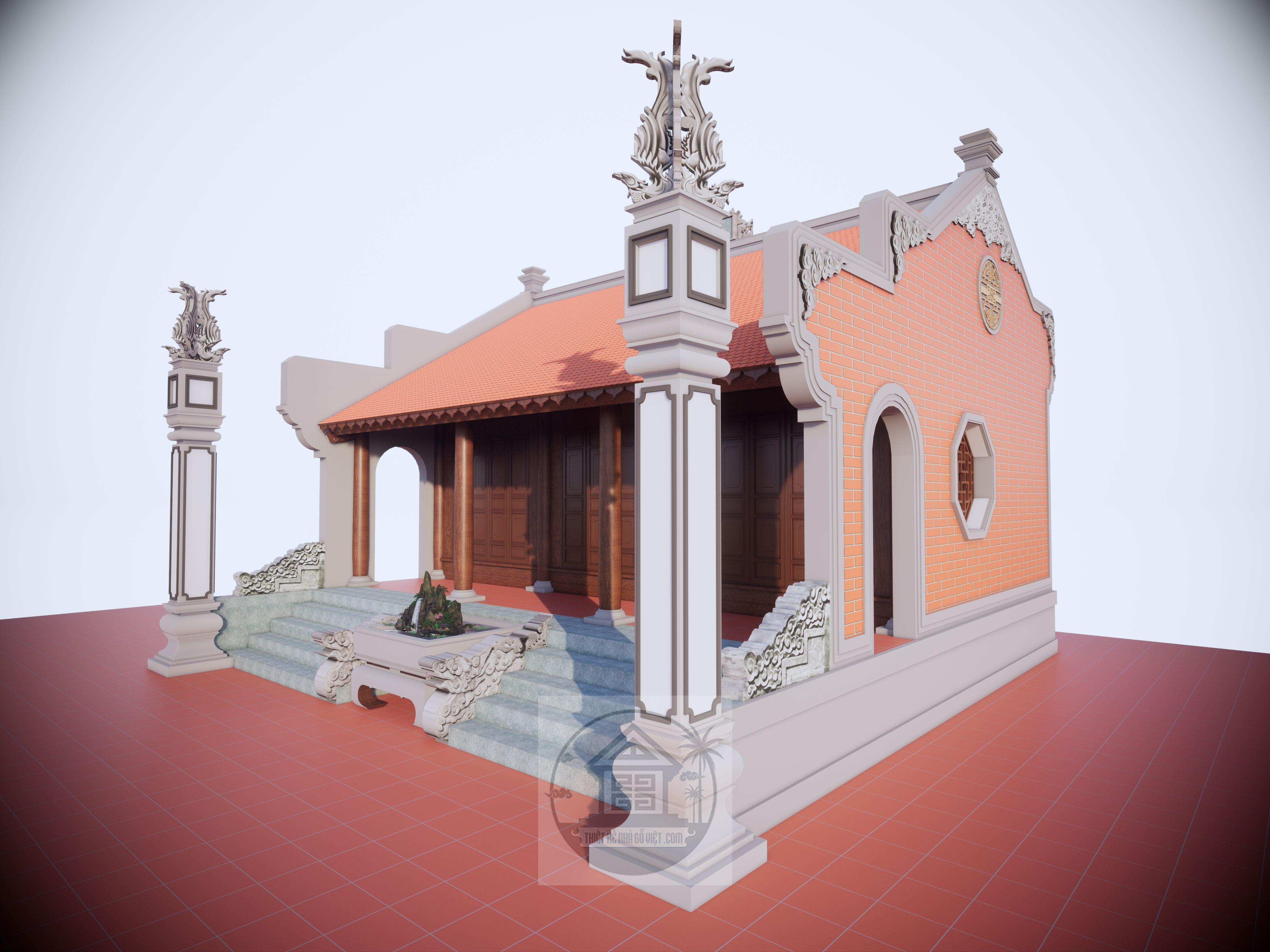 mẫu thiết kế nhà gỗ 3 gian đẹp